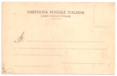 Original Vintage Backside POSTCARD with space for Correspondence and Address Stockfoto
