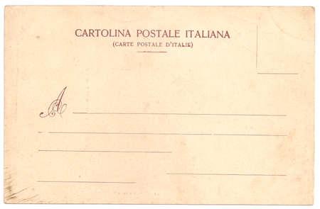 Original Vintage Backside POSTCARD with space for Correspondence and Address Reklamní fotografie