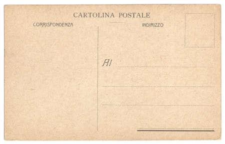 Original Vintage Backside POSTCARD with space for Correspondence and Address