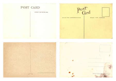 Original Vintage Backside POSTCARDS with space for Correspondence and Address