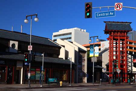 Los Angeles, California – October 11, 2019: Japanese Village Plaza view