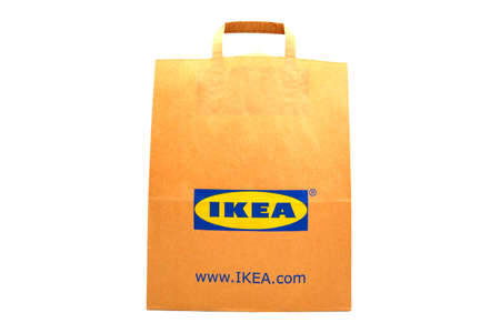 Pescara, Italy – September 8, 2019: IKEA Shopping Bag. IKEA is the world's largest furniture retailer and sells ready to assemble furniture.