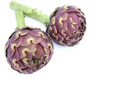 Fresh organic Artichoke on white background Stockfoto