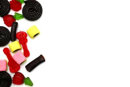 Gummy Candies on white background