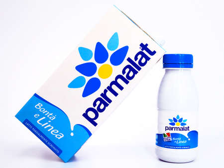 Italy - May 31, 2020: PARMALAT pasteurized low fat Milk