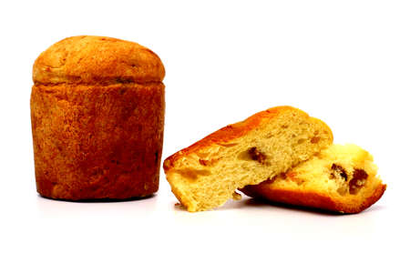 PANETTONE, Traditional Italian Christmas Cake with candied fruits