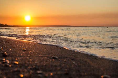 italian sea: The sun comes from the Italian sea coast