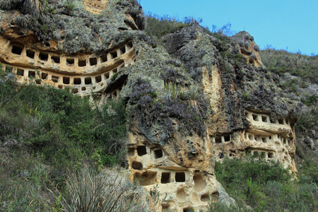The Ventanillas de Combaya are an old pre inca cemetry in the mountains of northern Peru near Cajamarca.