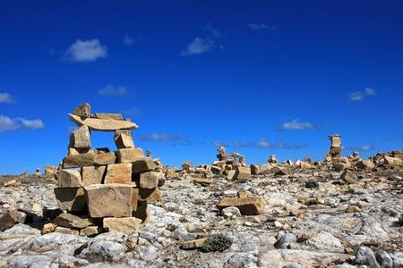 Chincana ruins at Isla del Sol, Island of the Sun, Titicaca lake, Bolivia