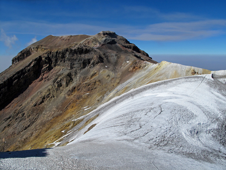 Iztaccihuatl mountain in Puebla, the neighbour of Popocatepetl Stock Photo