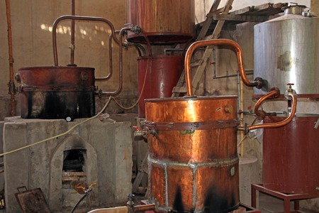 Old Singani distillery in Camargo Bolivia, the distillery was imported from France long time ago. Imagens