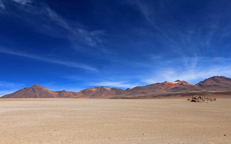 avaroa: Salvador Dali desert and colorful mountains in Eduardo Avaroa Andean Fauna National Reserve, Bolivia Stock Photo