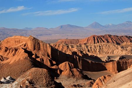 Amphitheater, valle de la Luna, Valley of the Moon, west of San Pedro, Atacama desert of Chile Stock Photo
