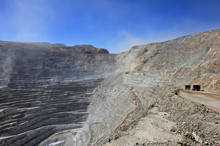 Chuquicamata, worlds biggest open pit copper mine, Calama, Chile Banco de Imagens
