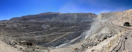 Chuquicamata, worlds biggest open pit copper mine, Calama, Chile Stock Photo