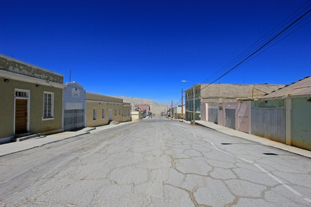the miners: Ghost town of Chuquicamata, Chile near the copper mine