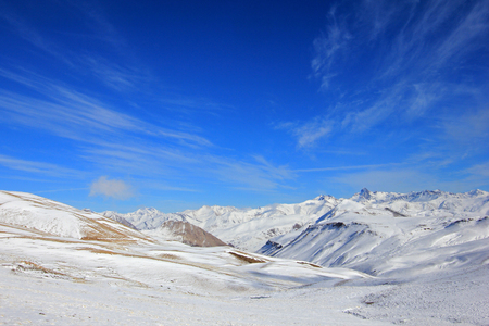 Valle Hermoso, the beautiful valley with the ski resort close, Las Lenas, Argentina