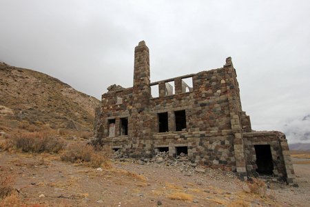 Abandoned Sosneado Hot Springs Hotel that has supposedly been a nazi hideout, Mendoza, Argentina