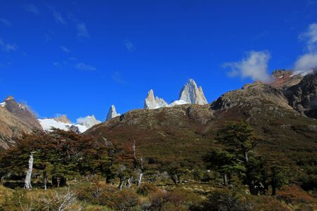 Mount Fitz Roy, Los Glaciares National Park, Patagonia, Argentina Stock Photo