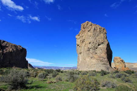 ruta: Piedra Parada monolith in the Chubut valley, along route 12, Chubut, Argentina