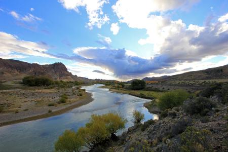 ruta: Beautiful landscape at Piedra Parada, Chubut valley, along route 12, Chubut Argentina