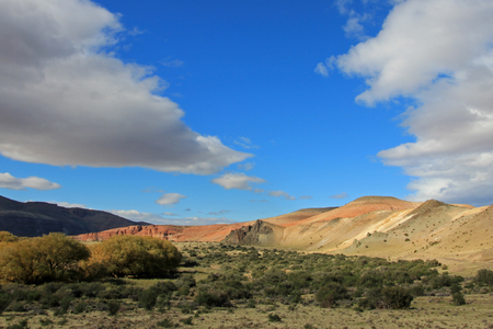 ruta: Beautiful badlands in the Chubut valley, along route 12, Chubut, Argentina