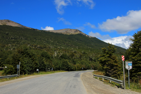 Road sign ruta route 40, Patagonia Argentina Stock Photo