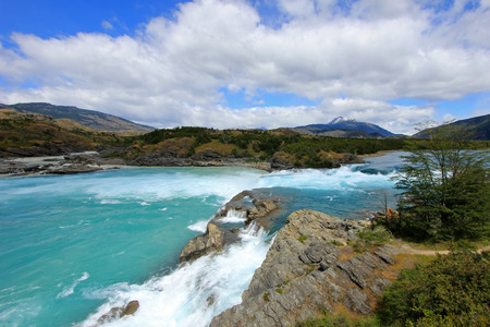 Deep blue Baker river, Carretera Austral, Chile