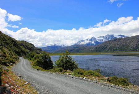 広大オーストラル高速道路、ruta 7 パタゴニア チリ 写真素材 - 79821339