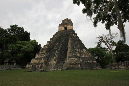 The mayan ruins Tikal Guatemala, Central America Stock Photo