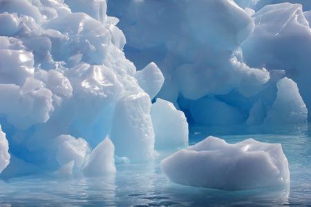Iceberg ice sculpture in Antarctic Peninsula, Antarctica