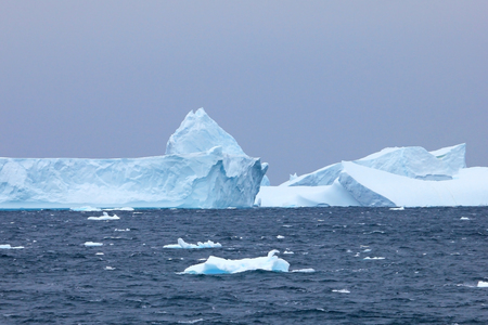Antarctic landscape, icebergs, mountains and ocean, Antarctic Peninsula Antarctica
