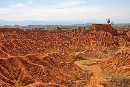The red slopes of the small Tatacoa Desert in Southern Colombia close to Neiva, South America
