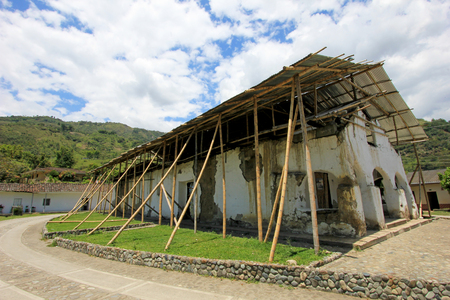 Renovation and support of old church in San Andres De Pisimbala, Tierradentro, Colombia, South America
