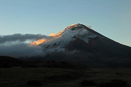 Cotopaxi volcano at sunset, Ecuador, South America