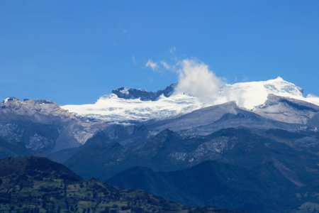 Panoramic view of the mountains in El Cocuy National Park, Colombia, South America