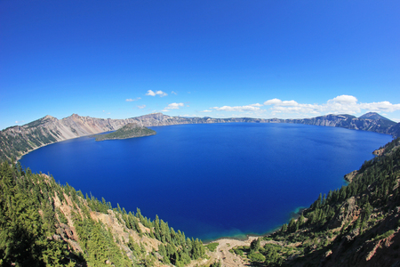 Landscape in Crater Lake National Park, Oregon, USA Stock Photo