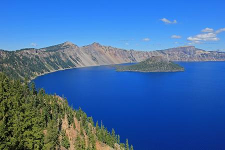 Landscape in Crater Lake National Park, Oregon, USA Stock Photo