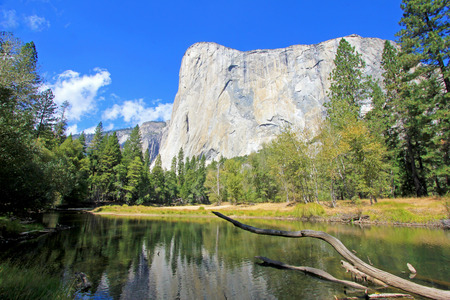 The famous mountain El Capitan, the nose in the Yosemite National Park, western Sierra Nevada, California, USA