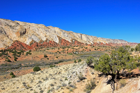 The Waterpocket Fold in Capitol Reef National Park, Utah, USA