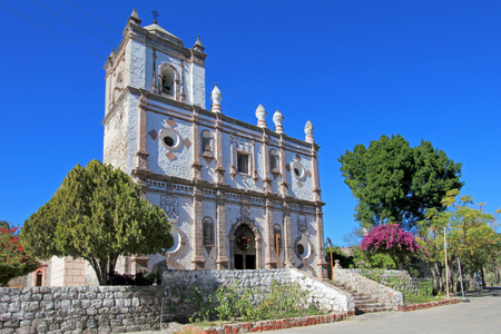 Old Franciscan church, Mision San Ignacio Kadakaaman, in San Ignacio, Baja California Sur, Mexico