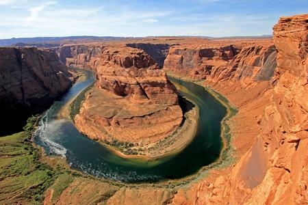 Horseshoe Bend meander of Colorado River, Glen Canyon, Arizonal, USA Stock Photo