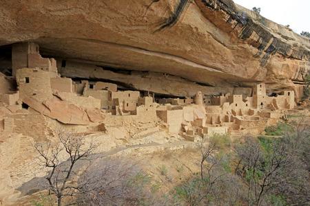 Cliff Palace, Mesa Verde National Park, Colorado USA Фото со стока