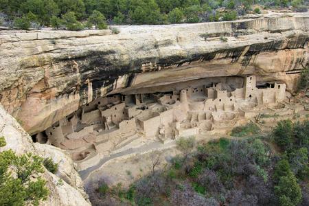 Cliff Palace, Mesa Verde National Park, Colorado USA 免版税图像