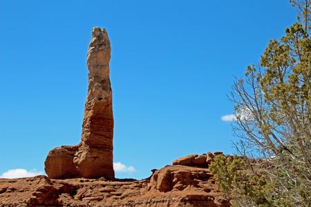 Sedimentary pipe, looking like a phallus symbol, Kodachrome Basin State Park, Utah, United States, USA