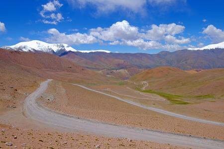 Road and landscape at Paso Abra Del Acay, Salta, Argentina, South America