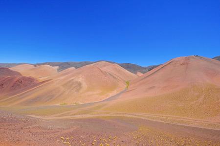 Beautiful mountain landscape in the Argentine Andes, near Laguna Brava, Paso Pircas Negras, La Rioja, Argentina, South America Stock Photo