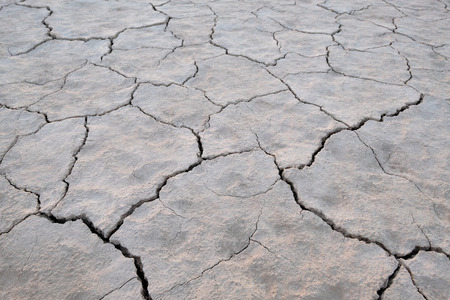 Dry soil and cracked earth background texture, global warming and climate change in San Juan, Argentina, South America Stock Photo