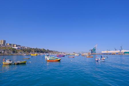 Beautiful view of the harbor port of San Antonio and the City, Valparaiso, Chile, South America Stock fotó