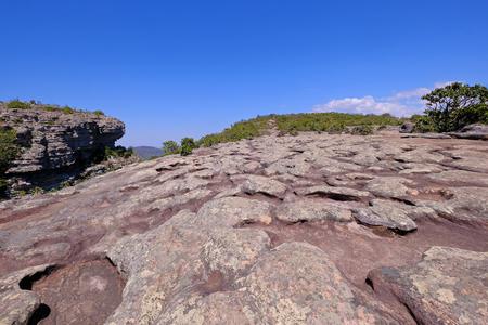 Stone rock formation on the top of Morro Do Pai Inacio mountain, Chapada Diamantina National Park, Lencois, Bahia, Brazil, South America Imagens